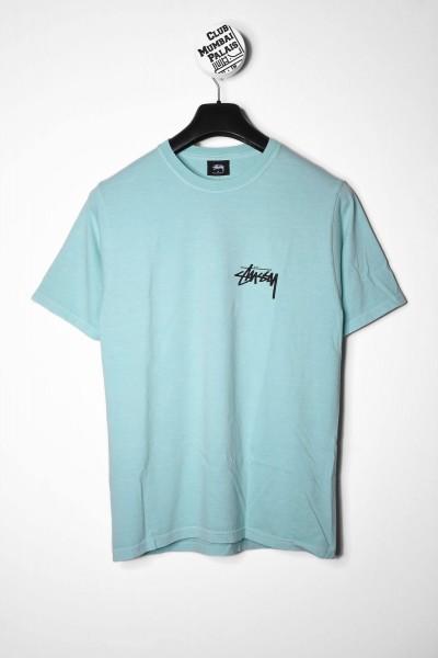 Stussy Peace & Love Pig. Dyed aqua / blau T-Shirt für Frauen Vorderseite