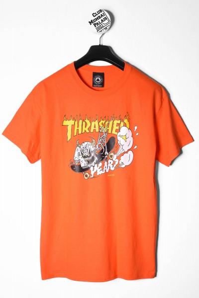 Thrasher T-Shirt 40 Year Neckface orange online bestellen