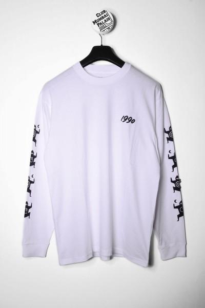 Carhartt WIP Longsleeve T-Shirt Ninja Tune weiß langarm Shirt Vorderseite