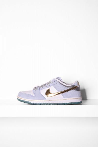 Nike SB Dunk Low Pro white metallic gold psychic blue online bestellen