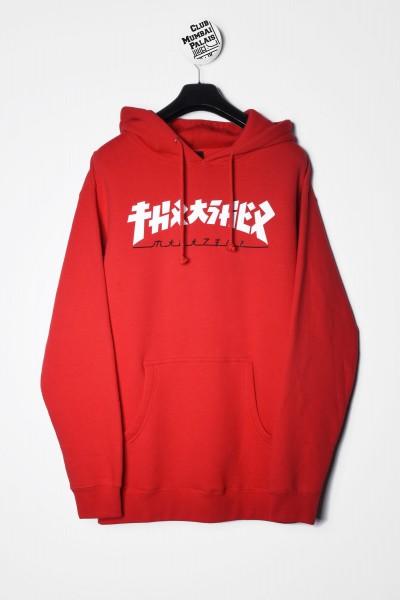 Thrasher Magazine Godzilla Kapuzenpullover / Hoodie rot Sweatshirt kaufen