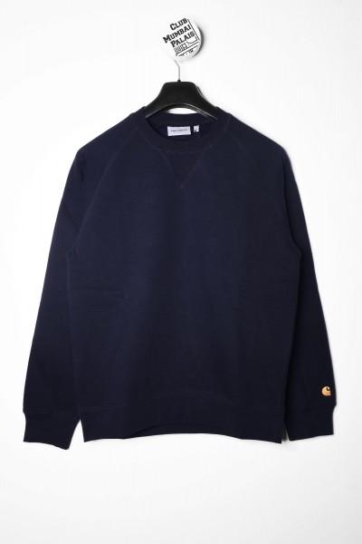 Carhartt WIP Pullover Chase Sweat dark navy dunkelblau / gold Sweatshirt shoppen