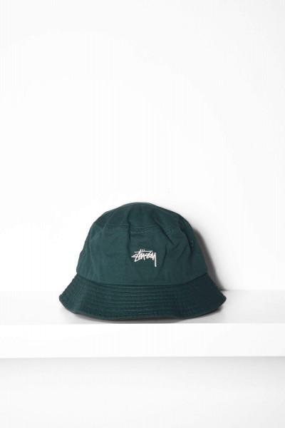 Stüssy Stock Bucket Hat grün Vorderseite