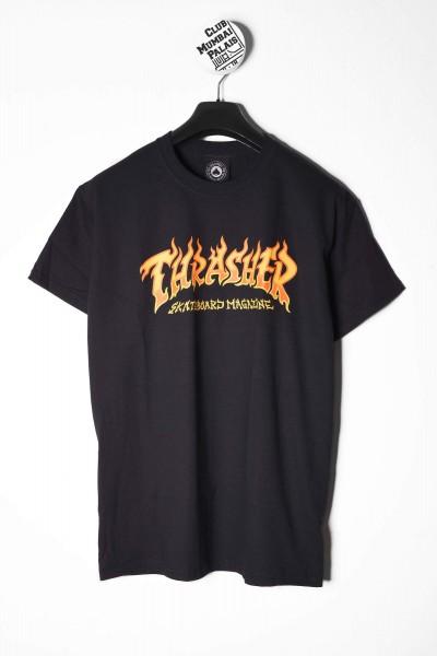 Thrasher T-Shirt Fire Logo schwarz online bestellen