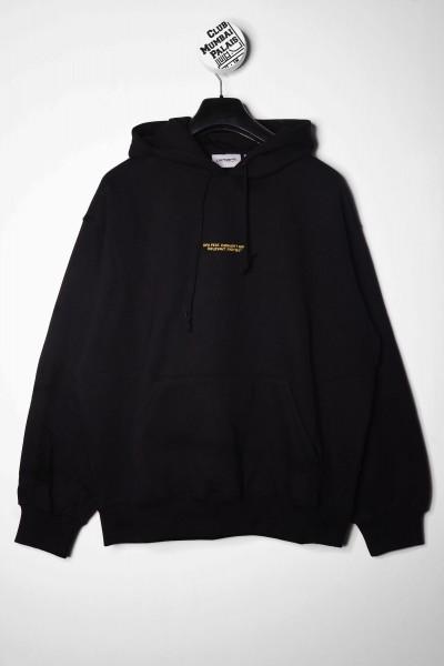 Carhartt WIP Hoodie DFA schwarz Kapuzenpullover mit Backprint jetzt kaufen