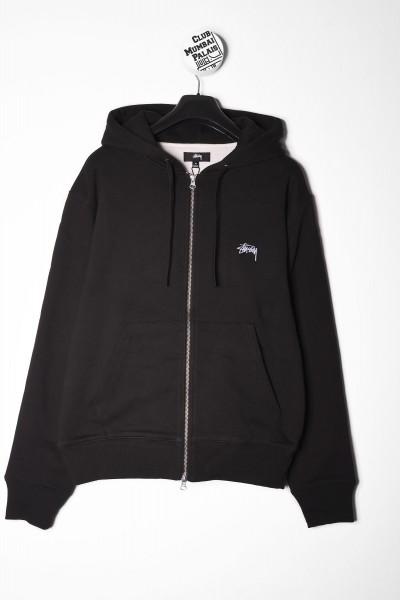 Stüssy Zip Hoodie Thermal schwarz online bestellen