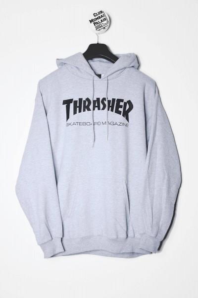 Thrasher Magazine Kapuzenpullover / Hoodie Skate Mag graumeliert / Sweatshirts Frontprint