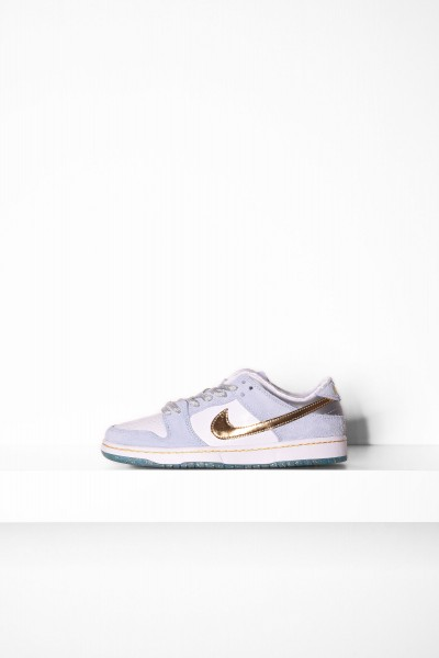 Nike SB Dunk Low Pro psychic blue metallic gold white online bestellen