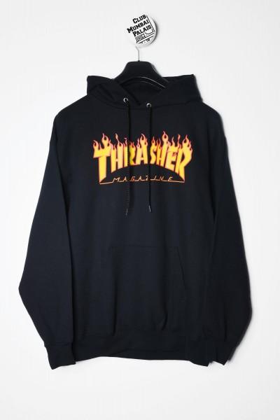 Thrasher Magazine Hoodie Flame schwarz Kapuzenpullover / Sweatshirt kaufen