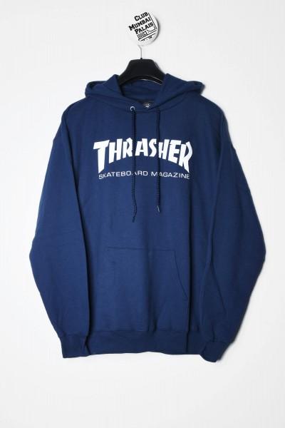Thrasher Magazine Kapuzenpullover / Hoodie Skate Mag navy blau Sweatshirt kaufen