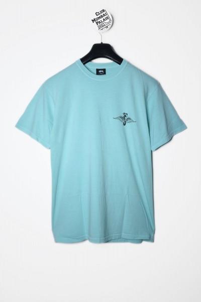 Stüssy T-Shirt Skull Wings Pig. Dyed Tee aqua blau - jetzt kaufen