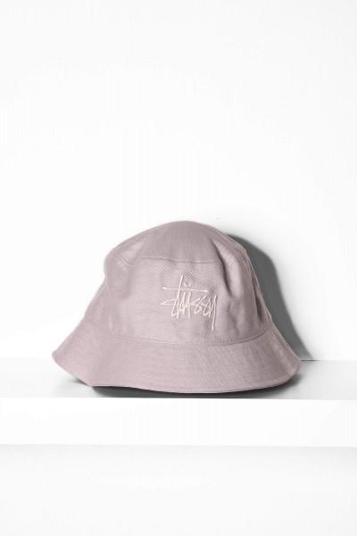 Stüssy Big Logo Bucket Hat grau online bestellen