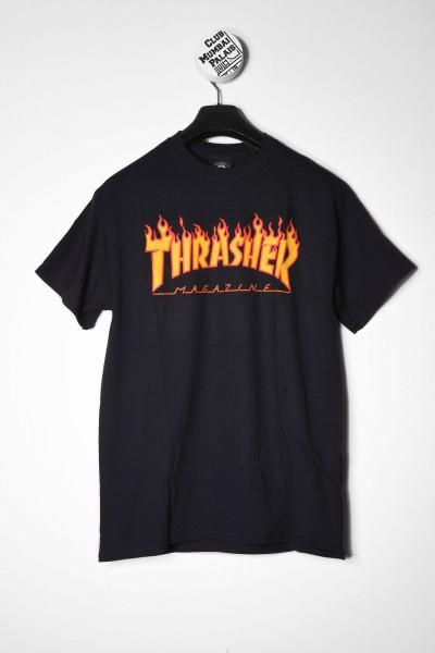 Thrasher T-Shirt Flame Logo schwarz online bestellen