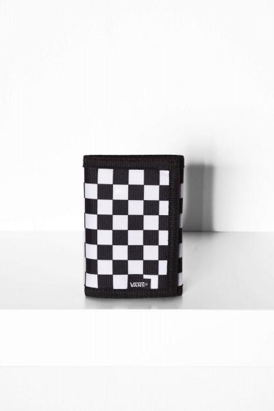 Slipped black white checkerboard Portmonee online bestellen