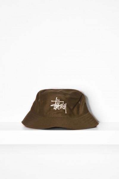 Stüssy Big Logo Bucket Hat olive online bestellen