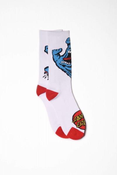Santa Cruz Socken Screaming Hand white / weiß Strümpfe online bestellen