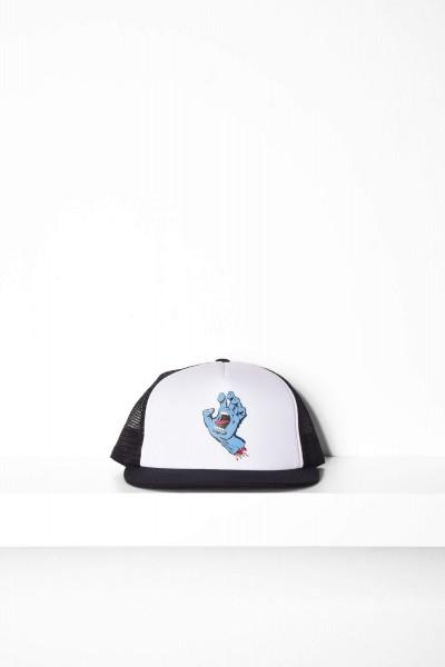 Santa Cruz Classic hand Mesh Cap white / black - weiß / schwarz Mütze online kaufen