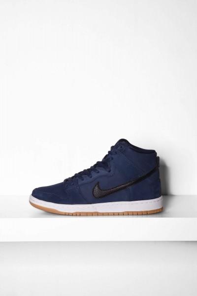 Nike SB Dunk High Pro Iso navy / black - blau / schwarz Sneakers online bestellen
