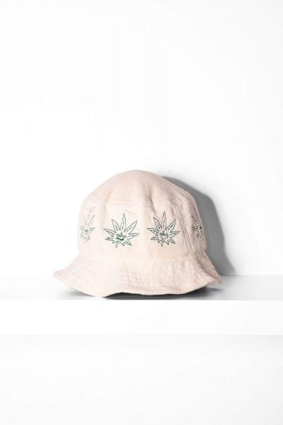 HUF Bucket Hat Green Buddy natural