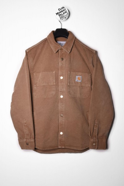 Carhartt WIP Glenn Shirt Jacket / Jacke Hamilton Brown worn canvas Hemd