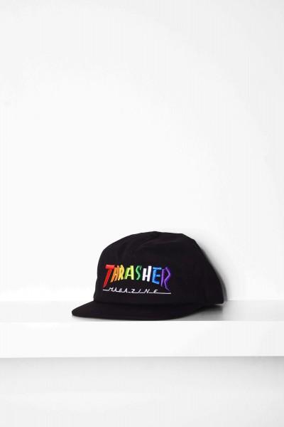 Thrasher Cap Rainbow Mag black / schwarz Snapback Mütze online bestellen