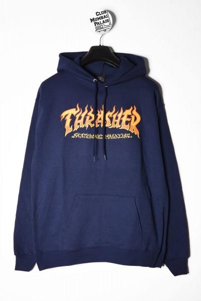 Thrasher Sweat Hooded Fire Logo blau online bestellen