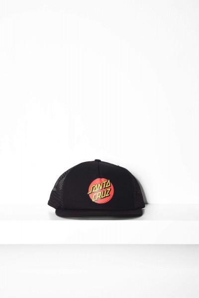 Santa Cruz Trucker Cap Classic Dot Mesh black / schwarz Mütze mit Logo Aufdruck