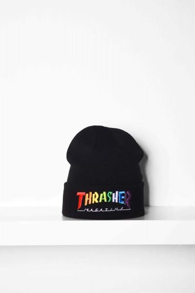 Thrasher Beanie Rainbow Mag black / schwarz online kaufen