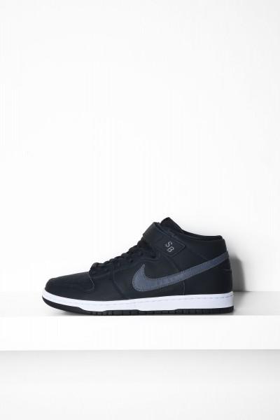 Nike SB Sneaker Dunk Mid Pro Iso schwarz / grau Skateschuhe - jetzt kaufen