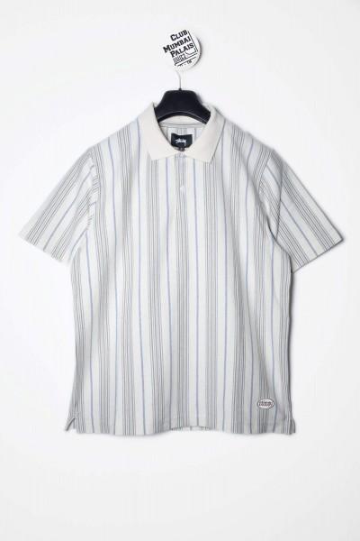 Stüssy Polo Revival Stripe naturweiß Shirt kaufen
