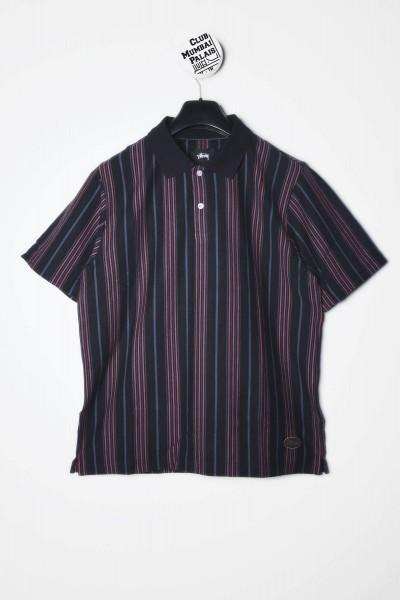 Stüssy Polo Revival Stripe schwarz Shirt kaufen