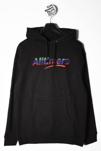 Alltimers Sweat Hooded Embroidered Wave Estate schwarz online bestellen