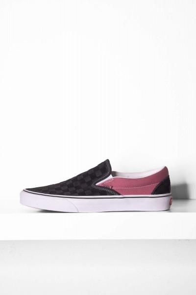 Vans Classic Slip-On Deboss Checkerboard schwarz / pink online bestellen