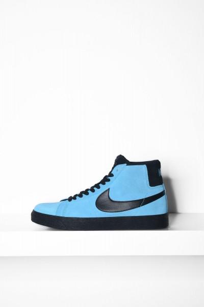 Nike SB Sneaker Blazer Mid blau / schwarz Skateboardschuhe - jetzt kaufen