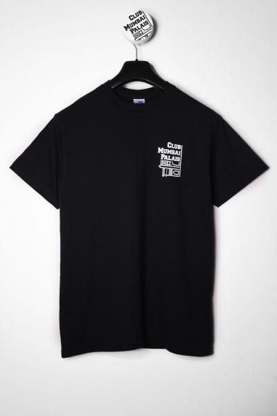 Club Mumbai Palais Skateboarding T-Shirt schwarz Backprint Panther kaufen Vorderseite