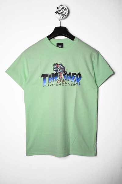 Thrasher T-Shirt Leopard Mag mint / grün online bestellen