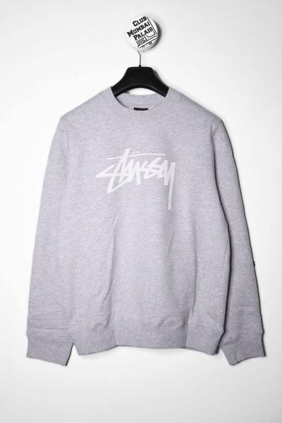 Stussy Stock Crew Pullover ash heather / grau Sweatshirt für Frauen online shoppen