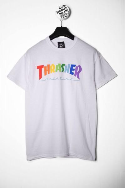 Thrasher T-Shirt Rainbow Mag white / weiß online shoppen