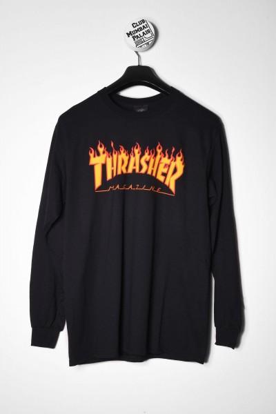 Thrasher Longsleeve Flame schwarz online bestellen