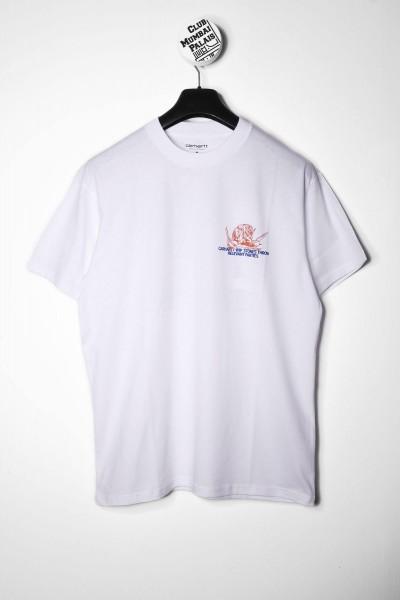 Carhartt WIP T-Shirt Stones Throw weiß mit Backprint kaufen