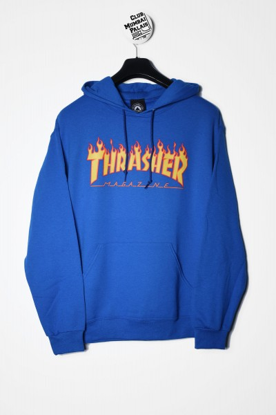 Thrasher Magazine Flame royalblau Kapuzenpullover / Hoodie Sweatshirt kaufen